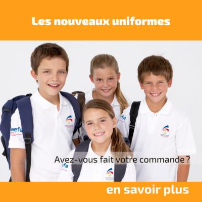 Les nouveaux uniformes